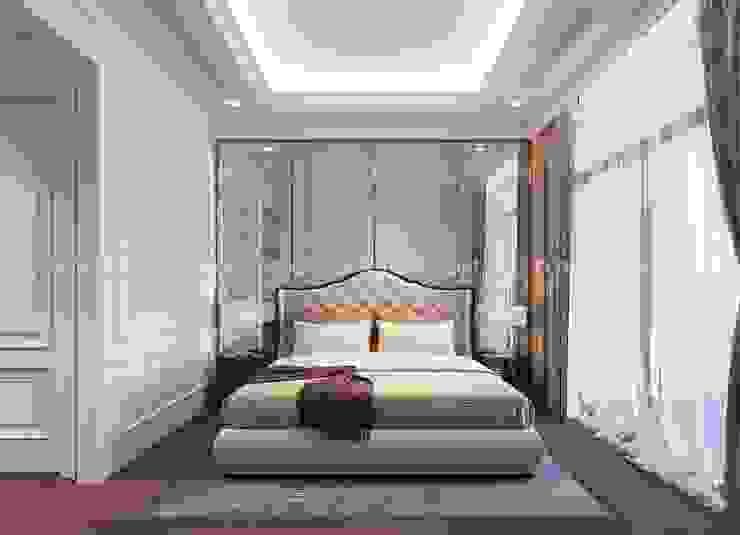 Thiết kế nội thất phong cách TÂN CỔ ĐIỂN cùng căn hộ Vinhomes Central Park Phòng ngủ phong cách kinh điển bởi ICON INTERIOR Kinh điển
