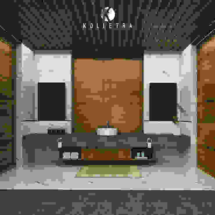 Interior Kamar Mandi Villa Sulung Oleh Kolletra Visual Studio