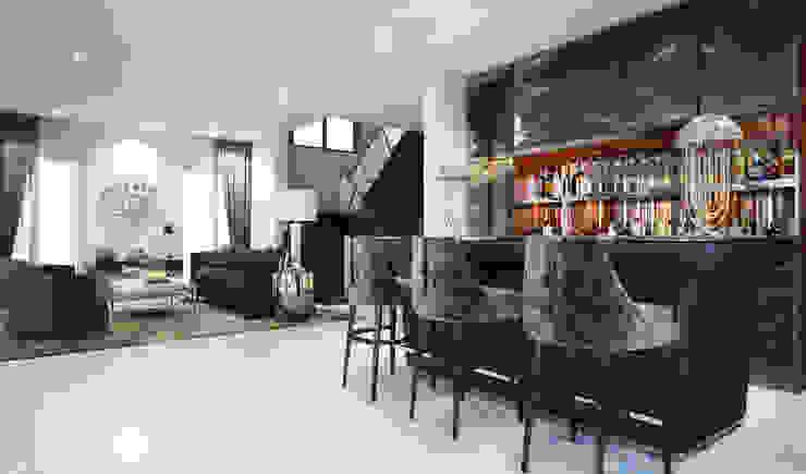 บาร์+ห้องรับแขก: ทันสมัย  โดย Luxxri Design, โมเดิร์น