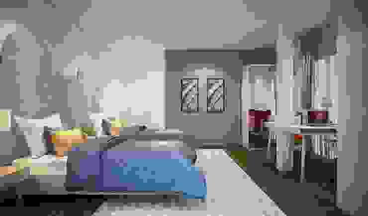 ห้องนอนสไตล์โมเดิร์น: ทันสมัย  โดย Luxxri Design, โมเดิร์น