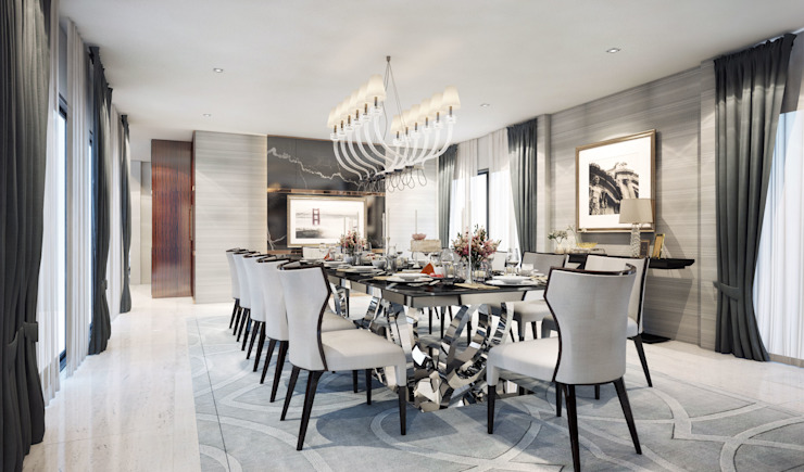 Dining room ห้องทานข้าว: ทันสมัย  โดย Luxxri Design, โมเดิร์น