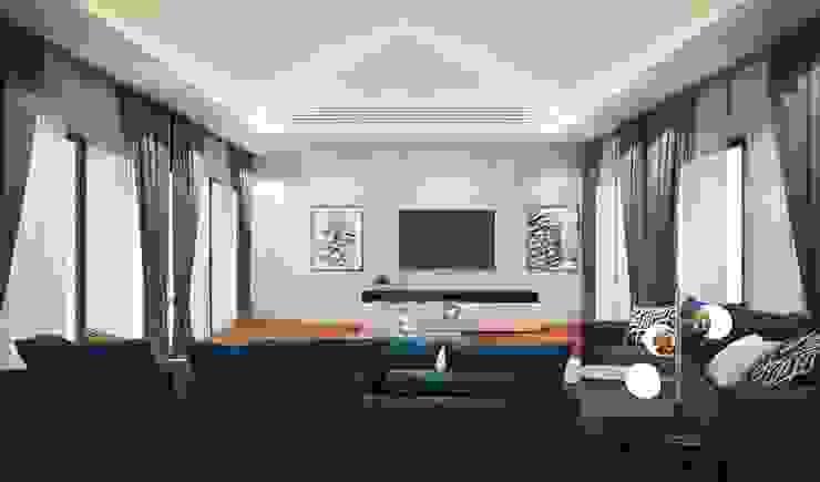 ห้องมัลติมีเดีย: ทันสมัย  โดย Luxxri Design, โมเดิร์น