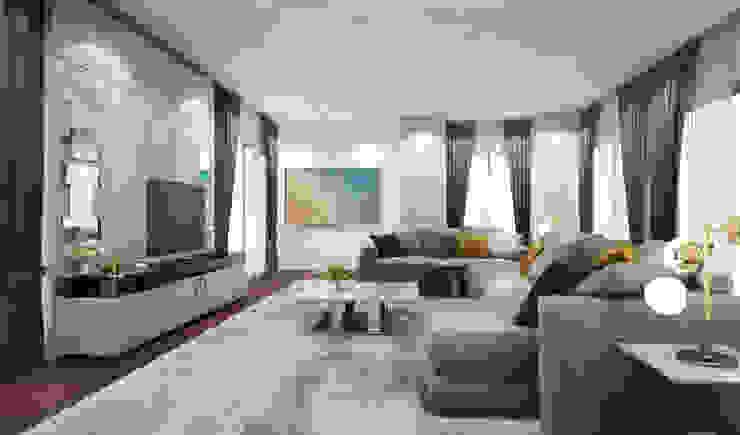 Living room ห้องนั่งเล่น: ทันสมัย  โดย Luxxri Design, โมเดิร์น
