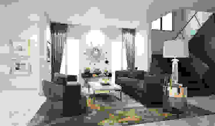 ห้องโถง Living room: ทันสมัย  โดย Luxxri Design, โมเดิร์น