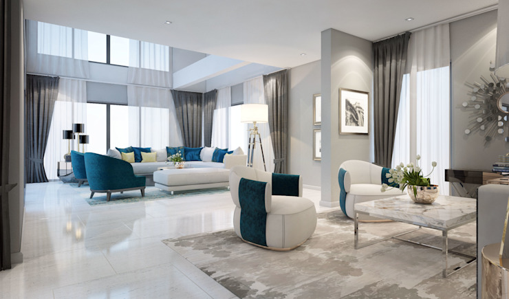 Living room: ทันสมัย  โดย Luxxri Design, โมเดิร์น