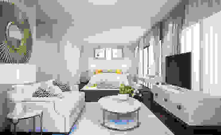 Bedroom : ทันสมัย  โดย Luxxri Design, โมเดิร์น