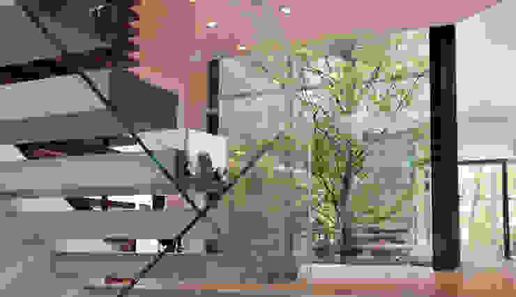 Лестницы в . Автор – Cluster Architekten / Inkognito