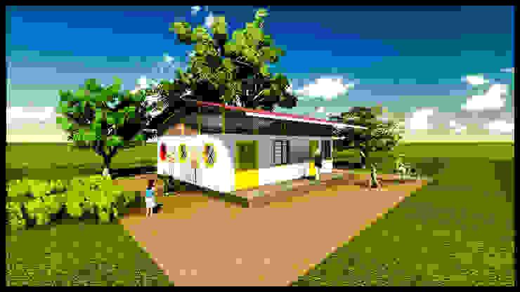 Anganwadi Design Rustic style schools by Urban Shaastra Rustic Iron/Steel