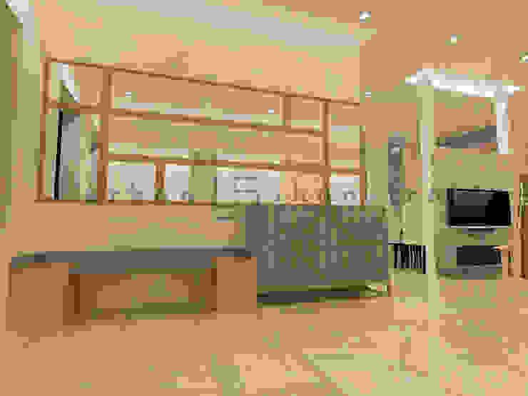 The Foyer Minimalist corridor, hallway & stairs by Urban Shaastra Minimalist MDF