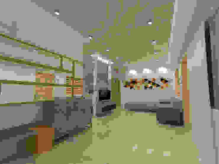 The Living Area Minimalist living room by Urban Shaastra Minimalist Tiles