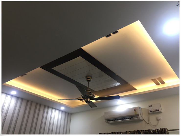 False Ceiling in the Commom Bedroom Modern Bedroom by U and I Designs Modern