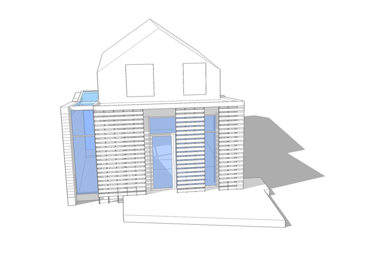 3D Model of Single Storey Wrap Around Rear Extension ArchitectureLIVE