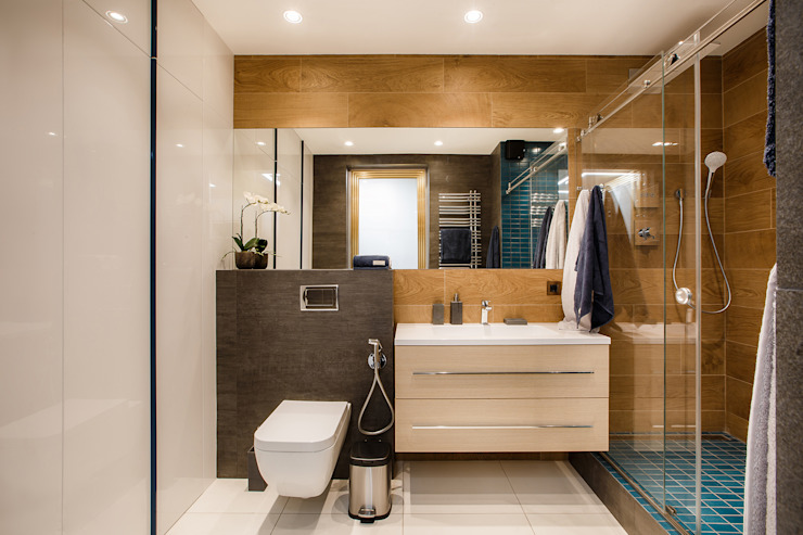 Реализованный интерьер квартиры на ул.Авиационная Ванная комната в эклектичном стиле от Дизайн Студия 33 Эклектичный