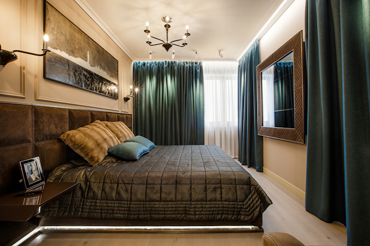 Eclectic style bedroom by Дизайн Студия 33 Eclectic