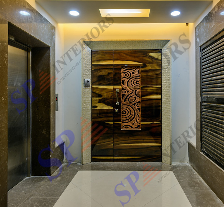 Ajay Bali Modern corridor, hallway & stairs by SP INTERIORS Modern