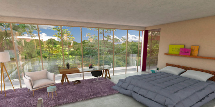 Dormitorios de estilo moderno de Ruiz Ferreira Arquitetos Moderno
