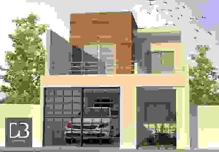 Propuesta de Diseño Principal Casas modernas de homify Moderno Concreto