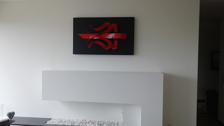 "Escultura de Pared ""HAKA"" de Galeria Expreso del Arte GEA Moderno Metal"