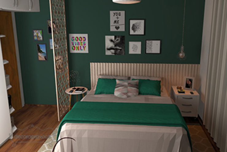 Decoropravocê - Decoração ao seu alcance. Modern style bedroom Wood Green