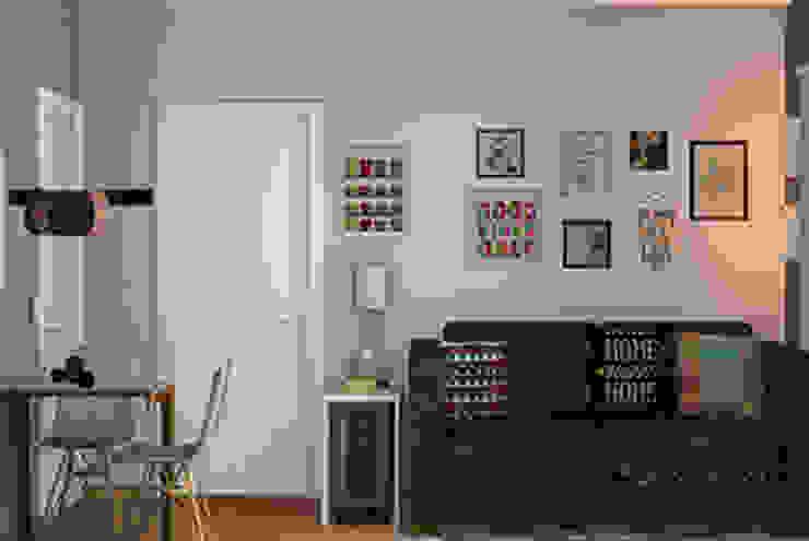 Decoropravocê - Decoração ao seu alcance. Eclectic style living room Wood Blue