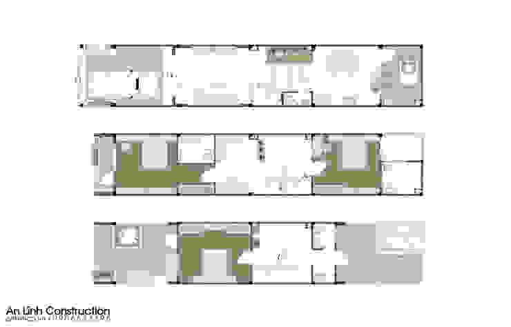 Công trình nhà phố tại quận 7 bởi CÔNG TY THIẾT KẾ XÂY DỰNG AN LĨNH