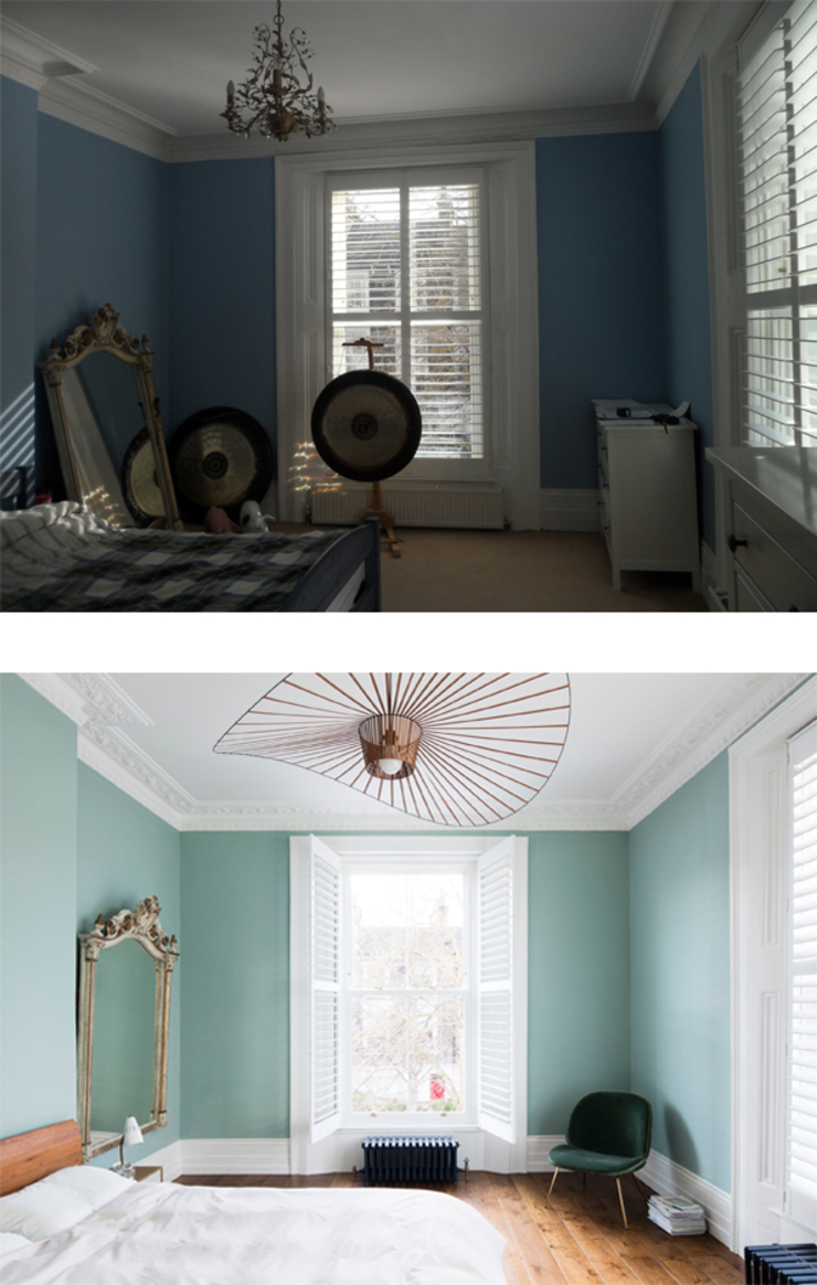 Before and After - Master bedroom Brosh Architects Habitaciones modernas