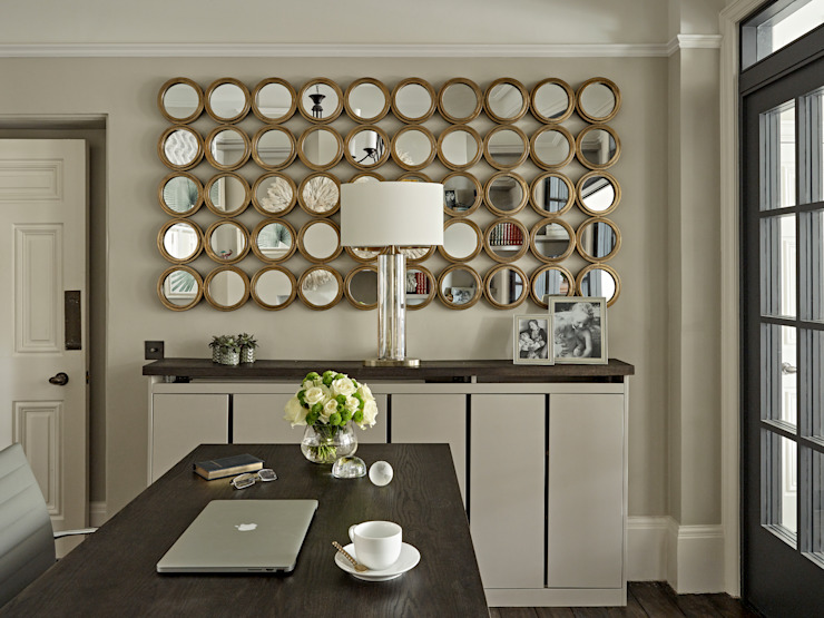 Family home in Dulwich Village Tailored Living Interiors Eclectic style study/office Wood Green