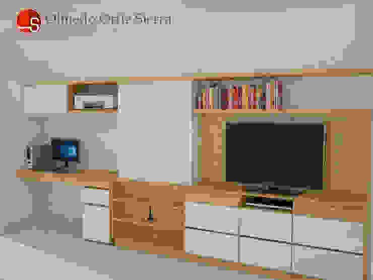 Diseño de Mueble Para Televisor de Cocinas Integrales Olmedo Ortiz Sierra Moderno