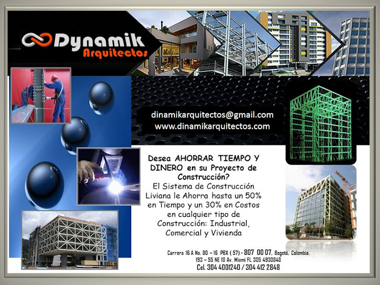 Varias Bodegas de estilo industrial de Dinamik Arquitectos Industrial Hierro/Acero