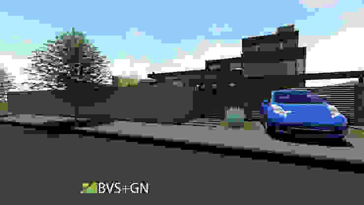 VIVIENDA VB Casas modernas: Ideas, imágenes y decoración de BVS+GN ARQUITECTURA Moderno Piedra