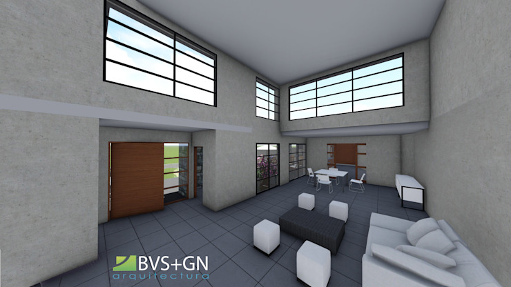 VIVIENDA VB Livings modernos: Ideas, imágenes y decoración de BVS+GN ARQUITECTURA Moderno