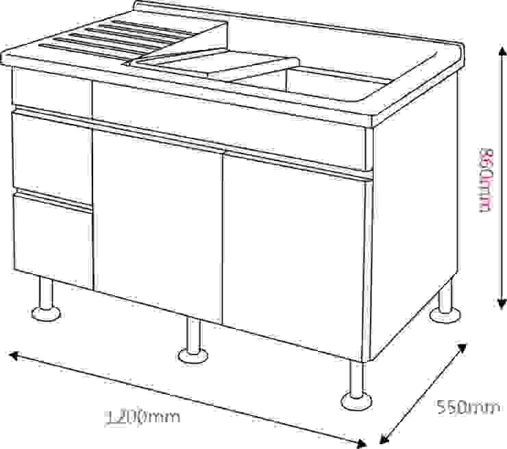 陽台人造大理石洗衣槽櫃: 現代  by 綋宜實業有限公司, 現代風 塑木複合材料
