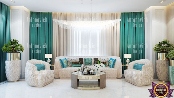 ​House Design in LA from Katrina Antonovich Eclectic style bedroom by Luxury Antonovich Design Eclectic