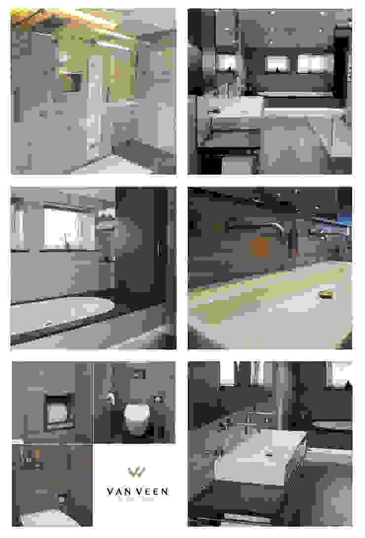 FOTO OVERZICHT BADKAMER Moderne badkamers van VAN VEEN INTERIOR DESIGN Modern Tegels