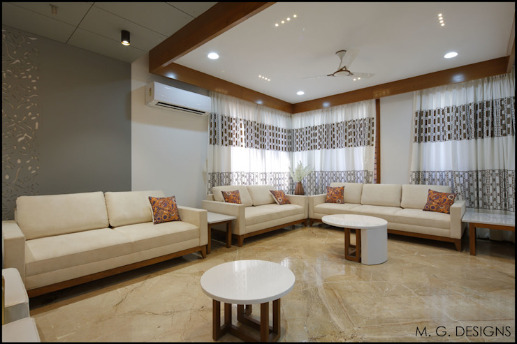 Living room by malvigajjar, Modern