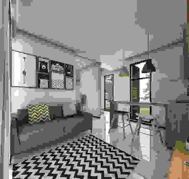 Salon de style  par Atelier BAOU+