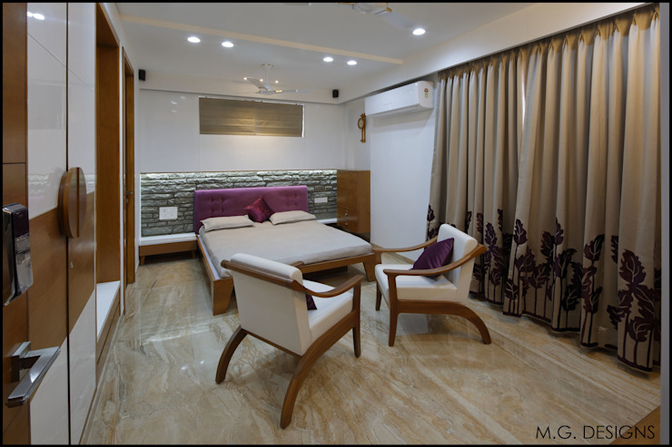 Bedroom Modern style bedroom by malvigajjar Modern