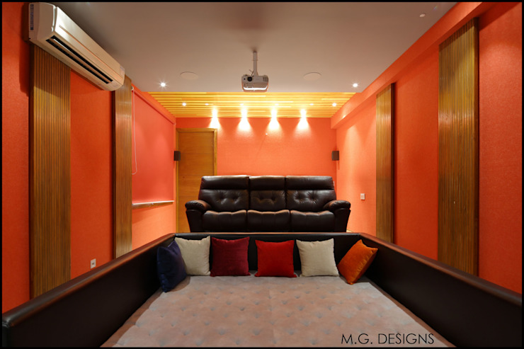 Home Theatre Modern style media rooms by malvigajjar Modern