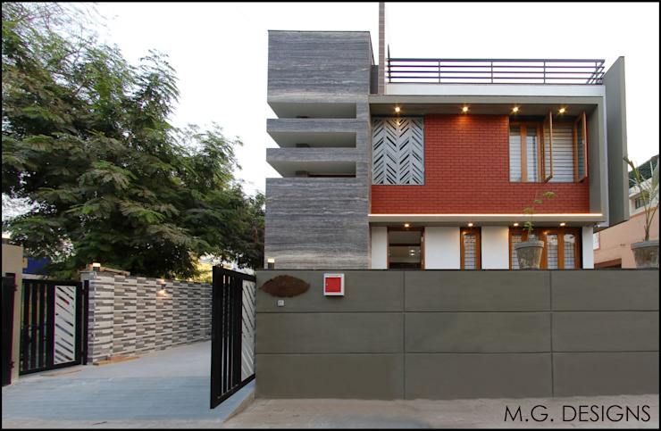 Bungalow Facade Modern houses by malvigajjar Modern