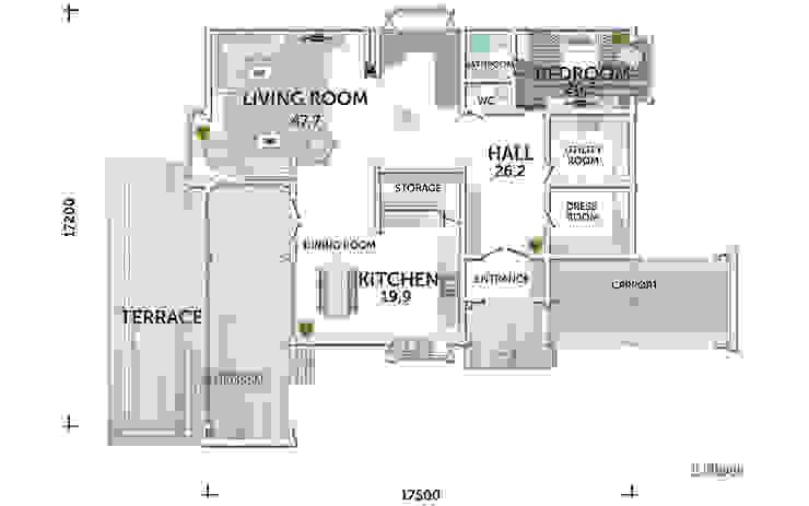 План первого этажа:  в . Автор – LUMI POLAR