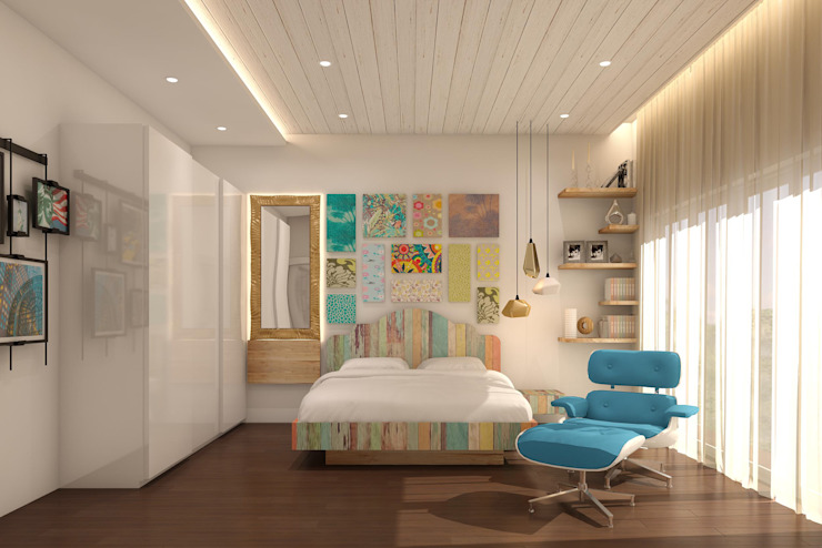 Residential Modern style bedroom by homify Modern