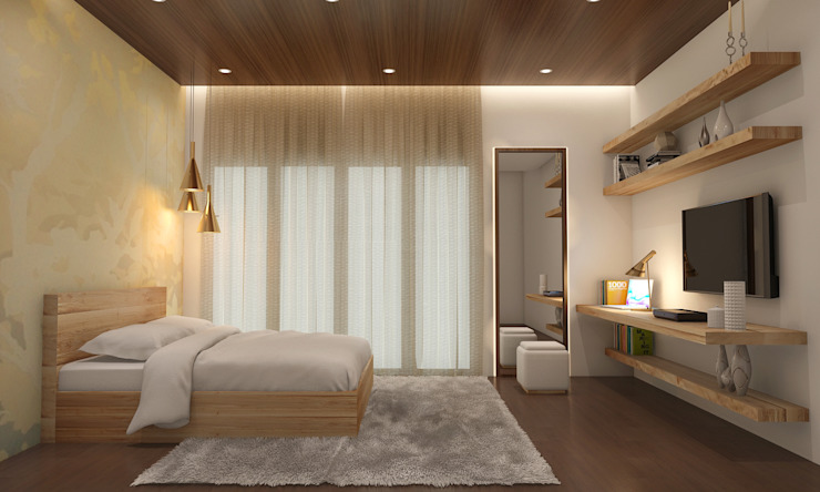 . What are some small bedroom design and storage ideas for Indian homes