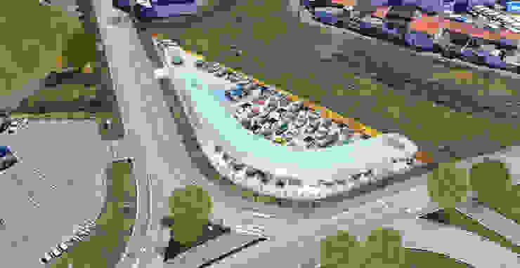 MUM Stands de automóveis modernos por Terra Arquitectos Moderno