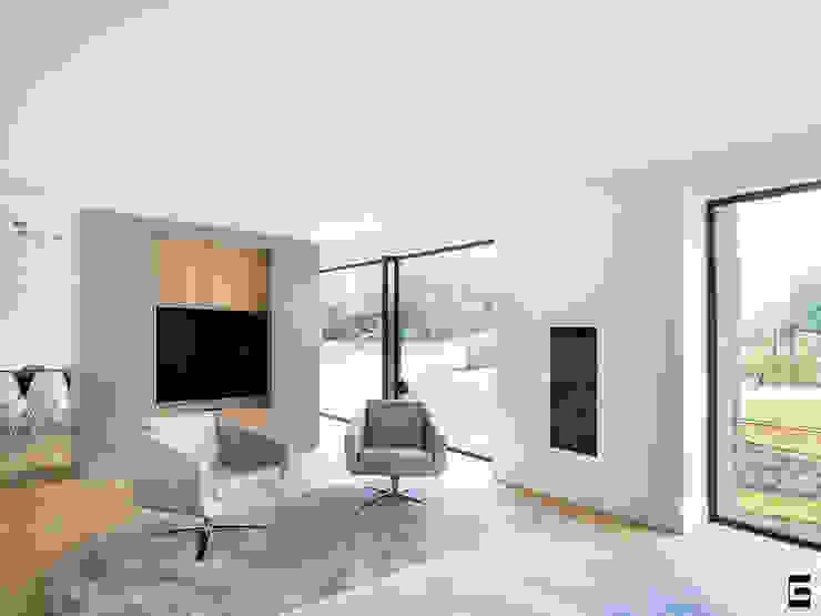 Woonkamer Moderne woonkamers van Geert van den Oetelaar . Architect Modern