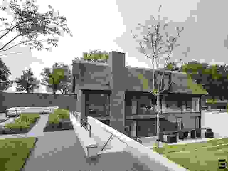 Achtergevel Moderne huizen van Geert van den Oetelaar . Architect Modern