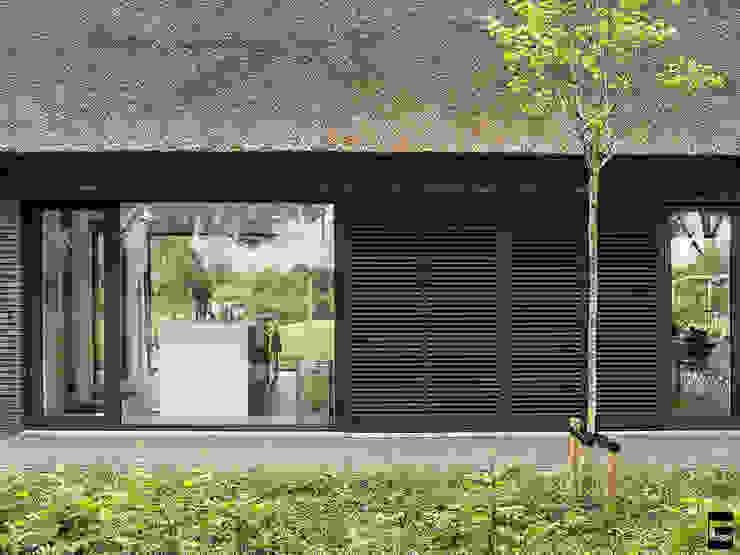 Detail gevel | loure luiken Moderne huizen van Geert van den Oetelaar . Architect Modern
