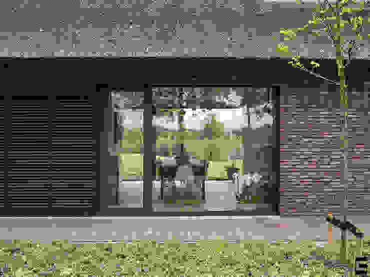Detail gevel | louvre luiken Moderne huizen van Geert van den Oetelaar . Architect Modern