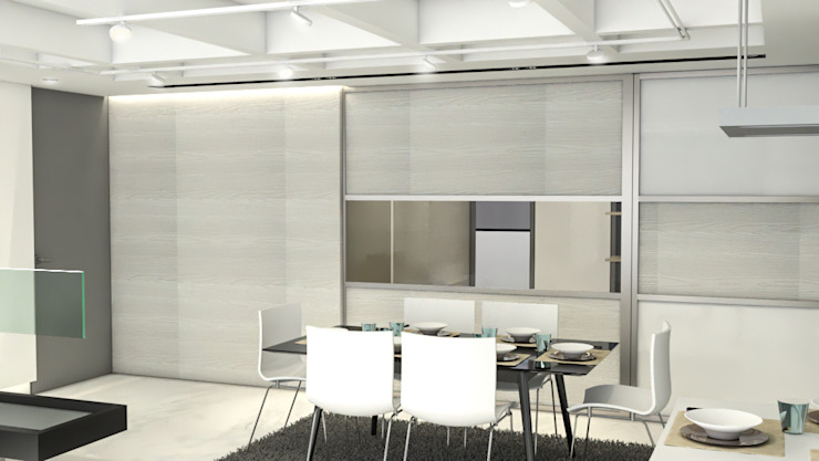 Modern dining room by Pro Escala Arquitectos SAS Modern