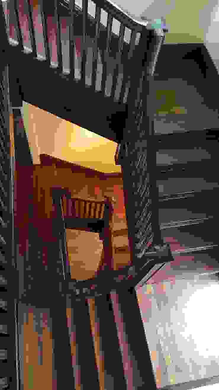Pine Stairwell Restoration by Shine Star Flooring Classic
