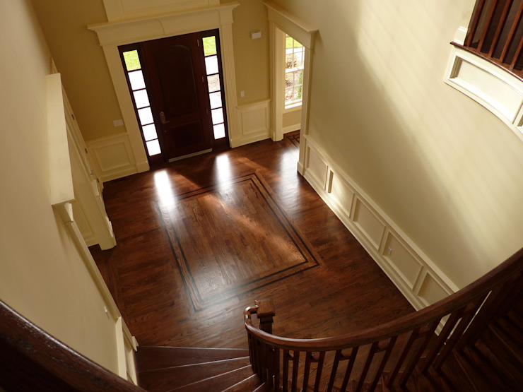 Red Oak Floors with Jacobean and Ebony stain by Shine Star Flooring Classic